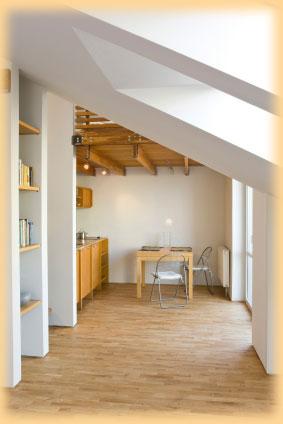 Podkrovní byt realizovaný pomocí sádrokartonu
